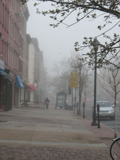 Foggy morning in Hoboken