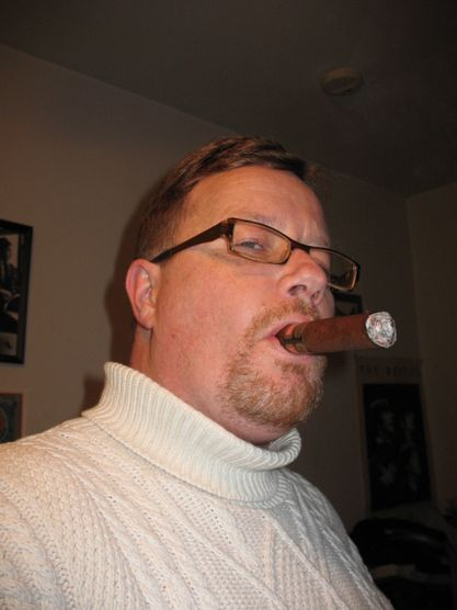 Me with my La Flor Dominicana Double Ligero for New Years Eve