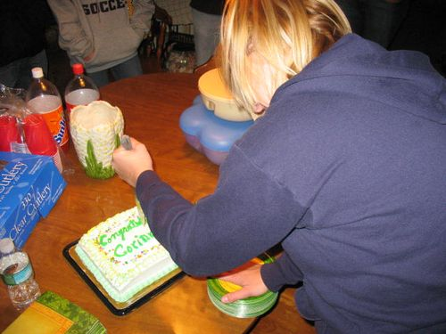 Cake Stabbing Corinne