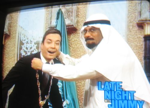 Jimmy Fallon with Saudi Bill