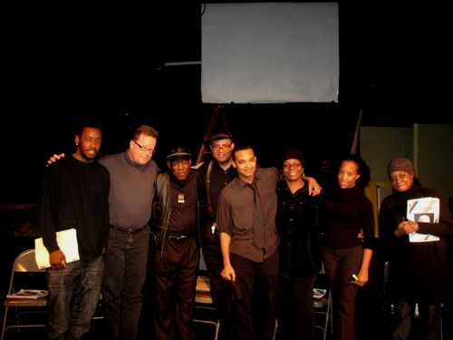 Barry, Wiley, Rudy, Director Bill, Playwright Kevin, Sharon, Ebony, Pauline
