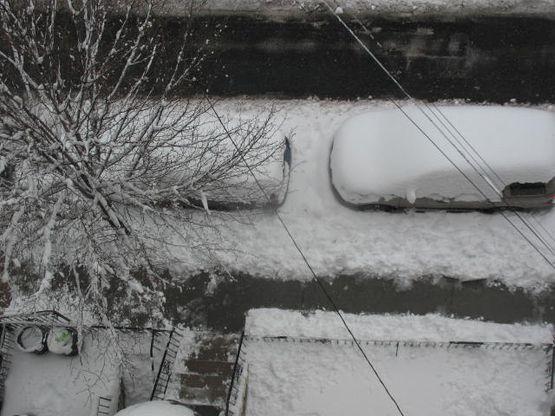While I shoveled...