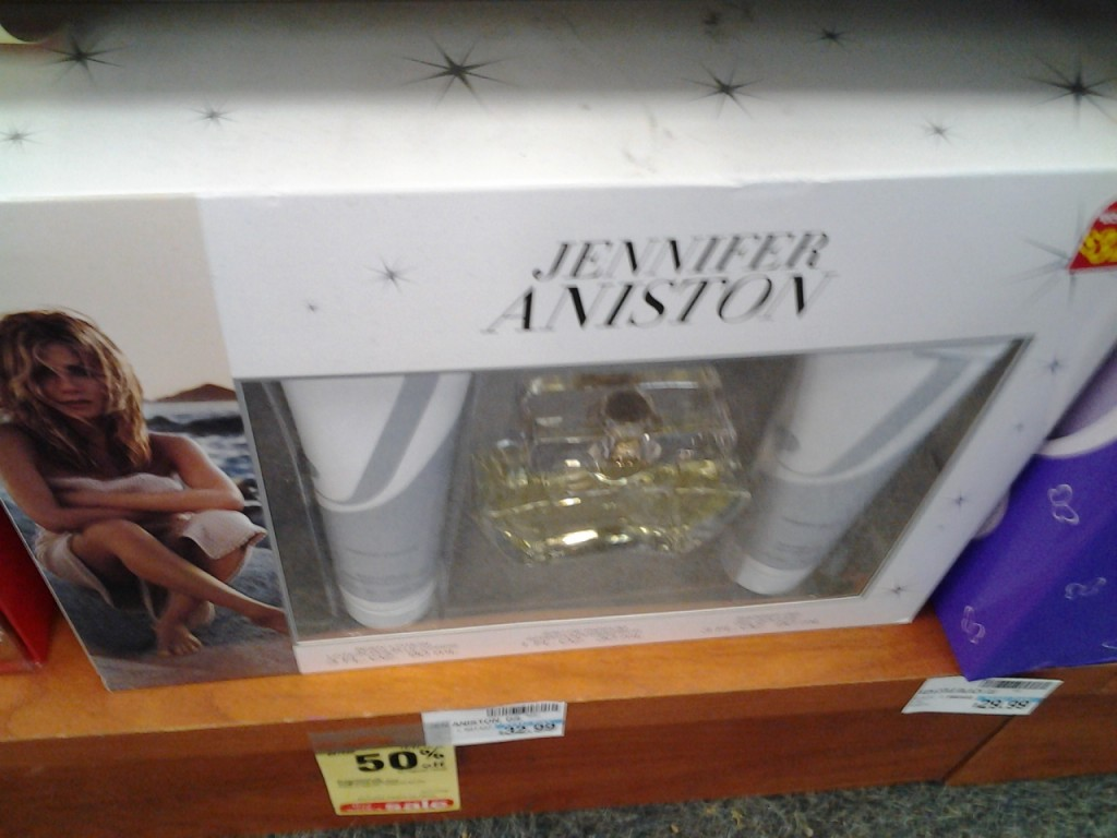 or you can smell like Jennifer Aniston...