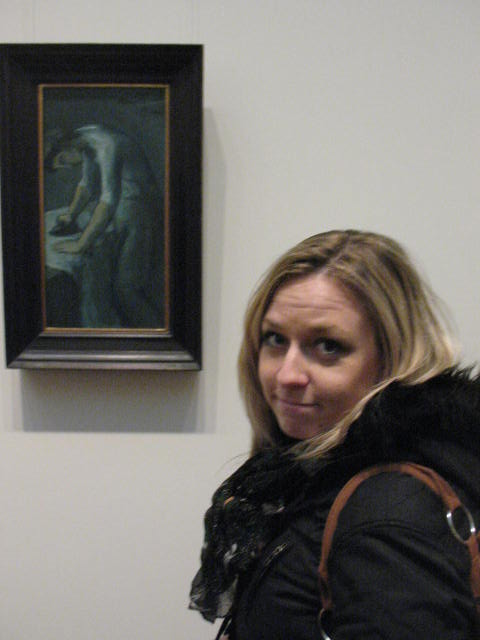 Corinne with a Picasso